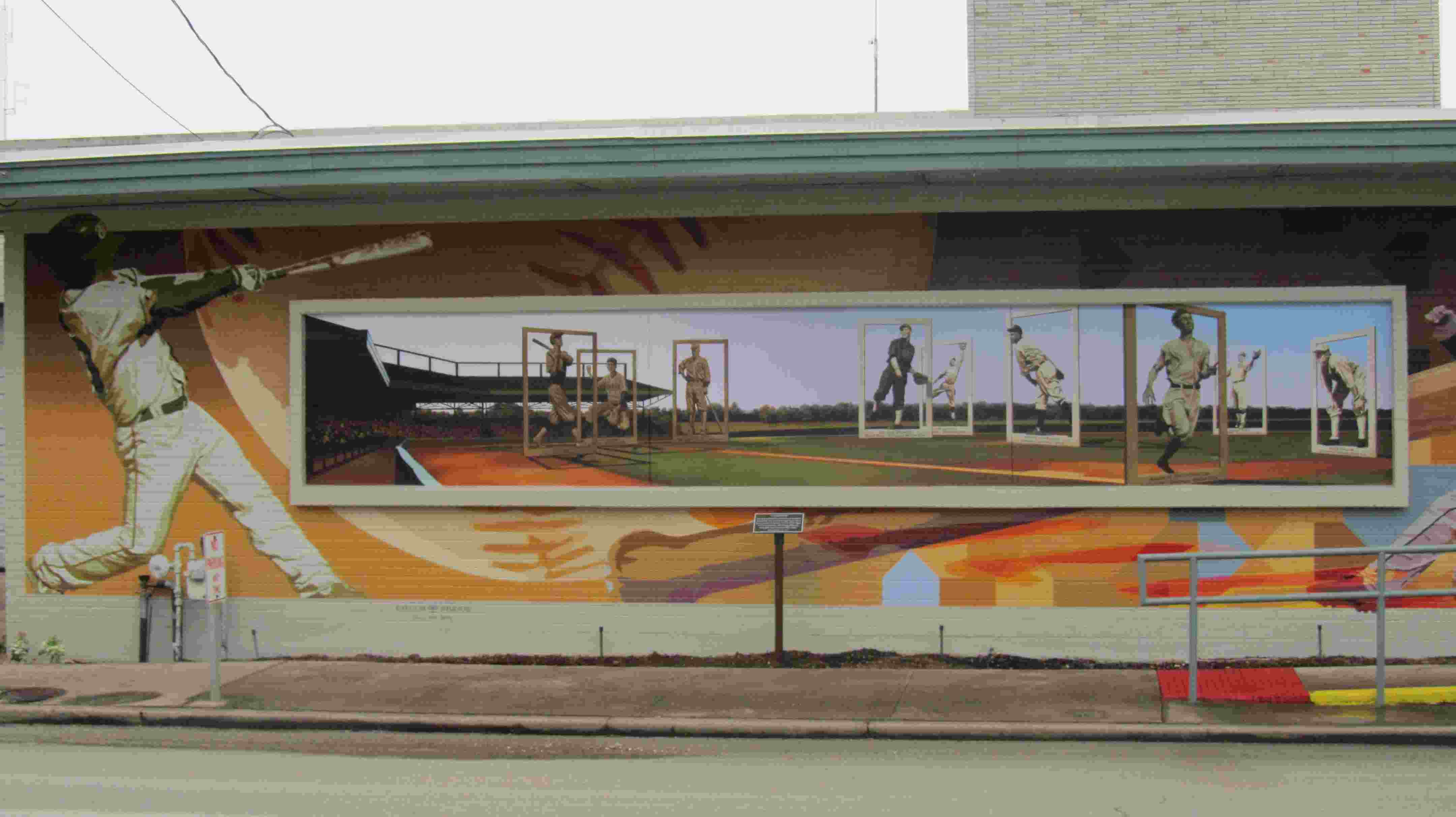 The Legends Baseball Mural was completed in 2014 on the north side of the  Parks and Recreation Building at the corner of Elm and Madison streets in  downtown ...
